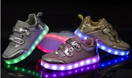 New Children's Casual Shoes Baby Kids LED Light Sneakers Girls Boys USB Charge Luminous Shoe Children Sports Running Shoes Size 25~35