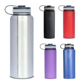 Eaux fraîches en Ligne-304 Vacuum eau en acier inoxydable Bouteille Sans LOGO 18 oz 32 oz 40 oz 64 oz Hydro Flask Rambler Coupes Bouteilles Keep Cool chaud
