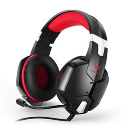 Wholesale KOTION EACH G1200 Gaming Headset mm Game Headphone Earphone Headband with Mic Stereo Bass for PS4 PC Computer Laptop Mobile Phones