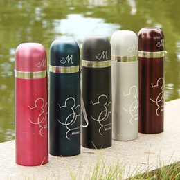 Wholesale Mickey Thermos Water Bottle Compact Leak Proof Beverage Double Wall Insulated Stainless Steel Vacuum Flask Travel Mug