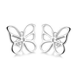 Factory Outlet wholesale 925 sterling silver butterfly earrings Stud Earrings