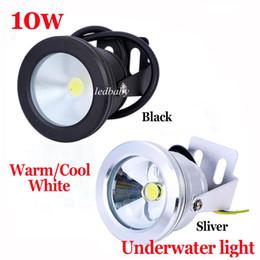 Wholesale Aluminum Led lights LED Underwater Light LED W V Aquarium Fountain Pool Lamp light IP68 Waterproof Warm cool white lights