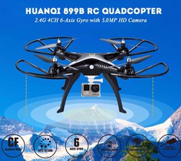 Promotion drones de caméras aériennes HUANQI 899B antenne UAV huanqi RC Drones 5MP HD CAM WIFI FPV en temps réel à 6 axes 2.4G Quadcopter sans tête VS H11D X6SW H12C + 2
