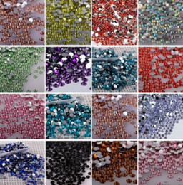 Wholesale All of the color Lt Siam Nail Art Rhinestones SS30 Mixed Non Hot Fix Glue on Glass Crystal Flatbacks beautiful Crystal material