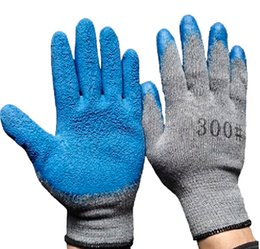 10 Gauge Cotton Coating Latex Wrinkle Glove Transportation Protective Industrial Glove Anti Slip Wear Resistant Safety Glove