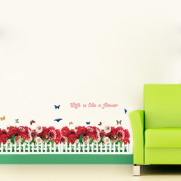 Wholesale The latest play crural line wall fence post indoor wall stick Personality wall stick The sitting room the bedroom wall stickers