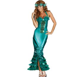 Wholesale Sexy Mermaid Ladies Fairytale Book Fancy Dress Womens Adults Costume Outfit
