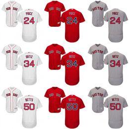 Wholesale Red grey green white red David Price David Ortiz Dustin Pedroia Mookie Betts Jersey Men s Boston Red Sox Flexbase Collection