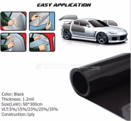 Wholesale 50x cm Dark Black Car Window Tint Film Glass VLT Roll PLY Car Auto House Commercial Solar Protection Summer