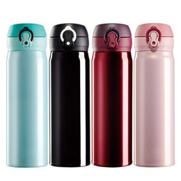 Wholesale Double Wall Insulated Stainless Steel Vacuum Flask Travel Mug Compact Leak Proof Beverage Thermos Water Bottle