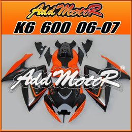 Wholesale Best Chioce Fairings Addmotor NewDesign Injection Mold Plastic For Suzuki GSXR600 K6 Orange Black S6647 Free Gifts