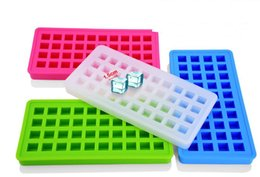 Wholesale Easy Push Pop Out Silicone Cavities cm inch Square Ice Cube Trays Frozen Cubes Pudding Candy Cake Chocolate Mold FDA Approved