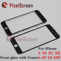 Wholesale cold press OEM glass frame OCA Front Touch Screen Glass Outer Lens for iphone G S C SE G Plus S SPlus with frame bezel