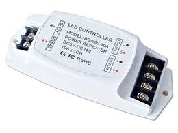 Wholesale LED Power Repeater LED light amplifier A CH LED mono amplifier data repeater LED PWM repeater