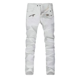 Wholesale Classic White Skinny Jeans For Men Balmain Homme Collection Sale Direct From Manufacturer