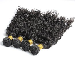 Wholesale 100 Malaysian Human Hair wave Brazilian Water Wave Unprocessed Hair Wave European Midium length