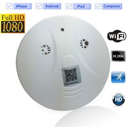 Promotion ip ios came WiFi HD 1080p caméra CCTV Spy IP cachée Détecteur de fumée Mini DV DVR Nanny Cam Pour IOS Android