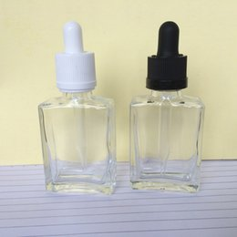 Wholesale Hot ml Glass Rectangular Square Dropper E Liquid Bottles olive oil bottle ml With Childproof Cap For e cigarette liquid bottle