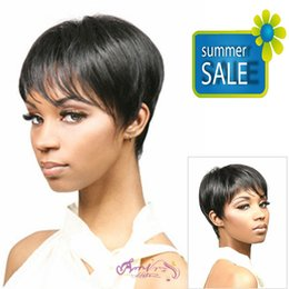 Wholesale Amir Hair Natural highlights short black wig synthetic afro hair puffy straight short wigs for black women Perucas synthetic women coplay