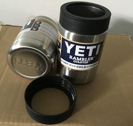 Wholesale 12 oz Stainless Steel Colster can Yeti Coolers Rambler Colster YETI Cars Beer Mug Insulated Koozie oz Cups in Stock FREE DHL