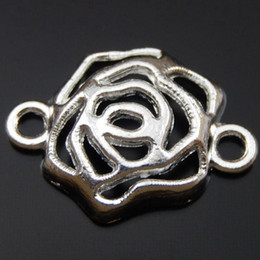 30PCS Antique Silver Alloy Hollow Flower Charm Pendant Jewelry Finding 15*20mm 39893 jewelry making