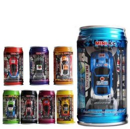 Wholesale christmas gift Mini Racer Remote Control Car Coke Can Mini RC Radio Remote Control Micro Racing Car HHA891
