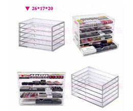 Wholesale New Anti Scratch Acrylic Cosmetics Organizer Tool kit Acrylic Makeup Box Organizer Cosmetic box Jewelry Storage Case Drawers MN C
