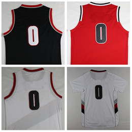 Wholesale 2016 Lillard New Material Rev Basketball jersey Best quality Logos Embroidery Size S XXL Cheap