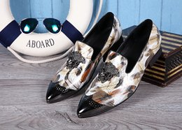2016 British Men'S Leather Shoes Fashion Flats Man Pointed Toe Formal Wedding Shoes Male Flats Dress Shoes Sapato Masculino