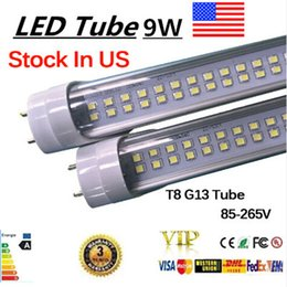 Wholesale Stock in US ft mm T8 Led Tube Light High Super Bright W Warm Cold White Led Fluorescent Bulbs AC85V V FCC