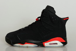 Wholesale Cheap Hot Shoes Online - cheap Retro 6 basketball shoes Carmine Oreo Infrared red black sport sneaker shoes online hot sale us size 8-13