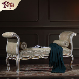 Wholesale Antique classic furniture manufacturer bedroom furniture European palace bed end bench home furniture