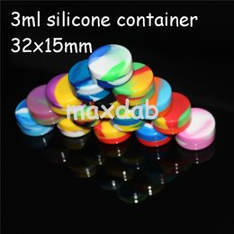 Wholesale 3mL mL mL mL Non Stick Food Grade Non stick Silicone Jar Dab Wax Oil Container Wax Containers Jars For Dabs Pass FDA LFGB Test