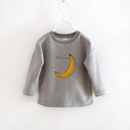 Wholesale 2016 baby girls children s clothing Banana and wool cartoon fleece outerwear baby sweater colors