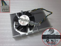 Wholesale New Power Logic Graphics Card VGA Cooler Fan PLD05010S12M DC12V A wire Pin Sleeve