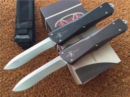 Wholesale Microtech Marfione Custom Combat Troodon Recurve Knife T6 Aluminum quot Hand Satin CNC D2 steel Plain Tactical knives w nylon sheath