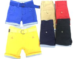 Wholesale Pants Baby Kids Boy Short Trouser Overalls Organic Cotton Male baby Colors Fashion and Good Quality Pant Free With Belt T t