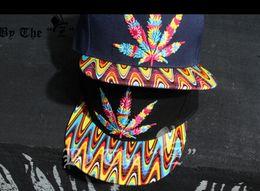 Fashion hip hop cap Baseball Cap Rasta Leaf hat Adjutable Snapback Ball caps for unisex 2 colors