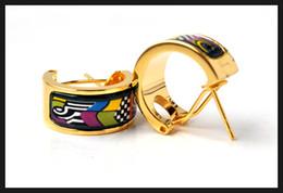 Allen Memorial Series Hoop earring 18K gold-plated enamel earrings for woman Top quality hoop earrings designer jewery
