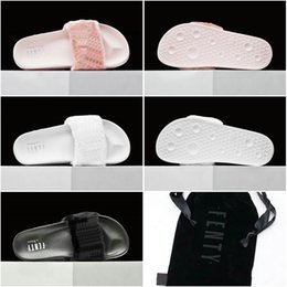 Wholesale With Box dust bag Drop Shipping Famous Leadcat Fur Slides Pink Black White Slide Sandal Womens Sandals Sz