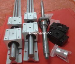 Wholesale 2 x SBR20 mm linear rail guides ballscrew RM1605 mm end sets BK BF12 end support coupler