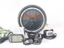 Wholesale V W ELECTRIC BIKE MOTOR WHEEL KIT ULTRATHIN HUB MOTOR KIT FOR E SCOOTER BRUSHLESS CONTROLLER WITH EBS BRAKE AND LCD DISPLAY