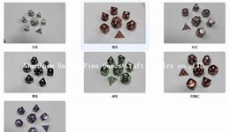 Wholesale polyhedral metal dice Die Casting Metal Dice Custom Dice Brass Dice For Promotion