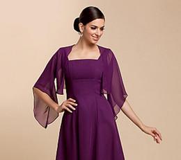 High Quality Wedding Jackets Wraps Half Sleeve Chiffon Evening Casual Wraps Evening Jacket (More Colors) Bolero Shrug