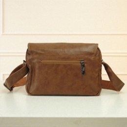 Wholesale Luxury School Bags - luxury outdoor travel men's messenger bags pu leather brand sports shoulder bags school crossbody black brown fashion bags