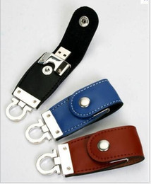 Wholesale Leather GB USB USB Flash Drive Memory Stick pen drive pendrive retail package