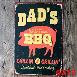 Wholesale BBQ Beer Grill burgers corn beer retro metal antique painting wall sticker wall decoration bar ktv