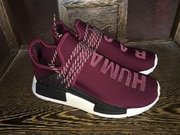 Wholesale New Pattern Orignal Quaqlity Pharrell s NMD Human Race Runner Sports Running Shoes Human Race knit upper sneakers Shipped With Box