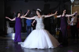 Charming Amazing Crystal Bead Sequins Luxury Wedding Dresses Cap Sleeve Sweep Train Mermaid Sexy Bridal Gowns Plus Size Vestidos De Novia