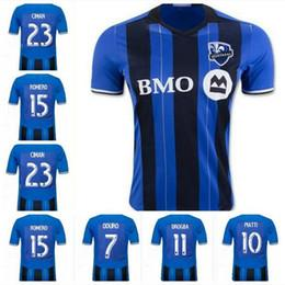 Wholesale Soccer Jerseys Wholesale Cotton - Top Thailand Quality Montreal Impact Soccer Jersey 2016 17 Home Blue 23 CIMAN 11 DROGBA MLS football Shirt Soccer Jersey